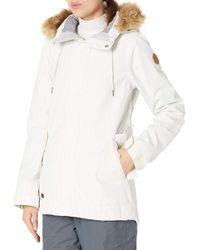 Volcom Fawn Insulated Snowboard Ski Winter Hooded Jacket - White