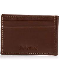 Timberland Minimalist Front Pocket Slim Money Clip Wallet - Brown