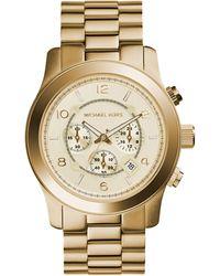 Michael Kors Chronograph Quarz Uhr mit Edelstahl Armband MK8077 - Mettallic