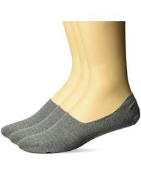 O'neill Sportswear Commons 3 Pack No Show Sock - Gray