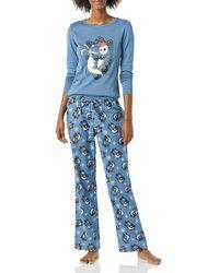 Amazon Essentials Disney Star Wars Marvel Flannel Pajamas Sleep Sets Pajama - Blu