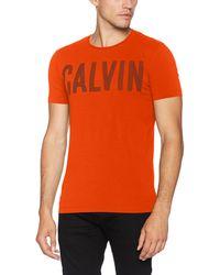 Calvin Klein Tyrus Slimfit Cn Tee T-Shirt - Orange