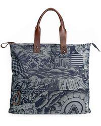 Scotch & Soda Shoulder Bag Combo A Jacquard - Blu