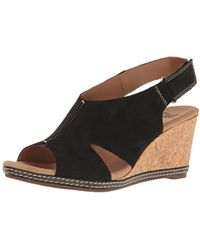 Clarks - Helio Float Wedge Sandal - Lyst