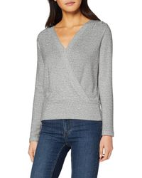 Dorothy Perkins Wrap Front Brushed Top T-shirt - Grey