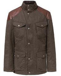 Hackett Special Edition Velospeed Jacket In Olive - Green