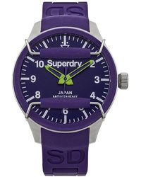 Superdry Analog Quarz Uhr SYG125U - Lila