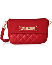 Love Moschino Borsa Quilted Nappa Pu Kuriertasche - Rot