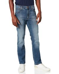 Wrangler Greensboro Water Resistant Jeans, Blue 62u, 32w / 34l