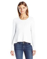 Kendall + Kylie - Side Draped L/s Sweater - Lyst