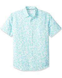 Amazon Essentials - Camicia da uomo a maniche corte in lino - Lyst