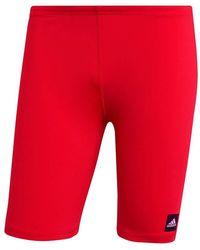 adidas Pro Solid Jam Swim Briefs - Red