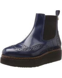 Love Moschino SCA.NOD.8331/45 Abrasivato PU Chelsea Boots - Blau