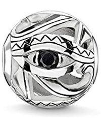 Thomas Sabo Bead œil d'Horus Argent Sterling 925, Noirci K0228-643-11 - Métallisé