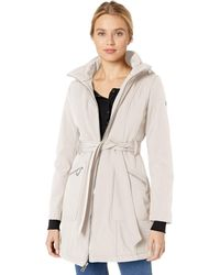 Guess Belted Softshell Jacket With Hood - Multicolor