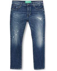 Benetton (z6erj Pantalone Trousers - Blue
