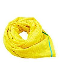 Esprit - Accessoires 058ea1q010, Echarpe Femme, Jaune (Bright Yellow 740),  Taille 8cb655fe948