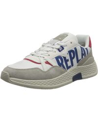 Replay Hybrid - Wellesley, Sneakers Basses , Bleu (White Navy 122), 40 EU