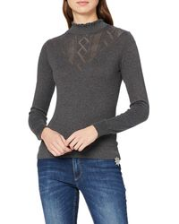Dorothy Perkins Ruffle Pontellle Victoriana Jumper - Grey