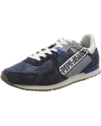 Pepe Jeans Tinker Tape Trainer - Blue