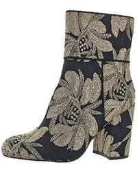 28385f40cf4 Steve Madden Goldie Brocade Ankle Boots - Lyst