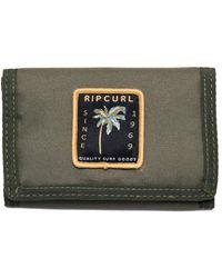 Rip Curl Trifold Wallet ~ Abzeichen Surf dunkle Olive - Grün