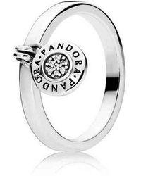 PANDORA Statement-Ringe 925 Sterlingsilber mit '- Ringgröße 56 - Mettallic