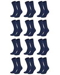 Tommy Hilfiger Lot de 6 paires de chaussettes pour homme - Bleu