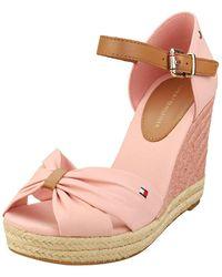 Tommy Hilfiger Open Wedge Sandals Pink
