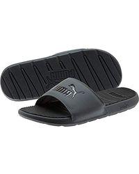 PUMA Sandalen zum Reinschlüpfen, weiß - Schwarz