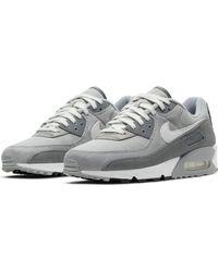Nike Scarpe da ginnastica da uomo Air Max 90 Premium lt Smoke Grey/White-Particle Grey - Grigio