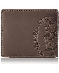 DIESEL - High Profilee Johnas I Leather Card Case Wallet - Lyst