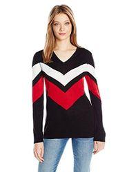 Calvin Klein - L/s Striped Sweater - Lyst