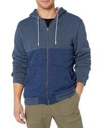 O'neill Sportswear Sherpa Lined Full Zip Hooded Fleece Sweatshirt Jacket - Blue