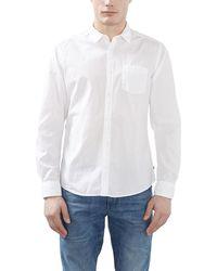 Esprit 997EE2F802 - Basic, Camicia Uomo, Bianco (WHITE), X-Large