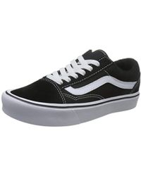 7529108dd9f Vans Old Skool Black Leather Trainers in Black for Men - Lyst