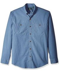 G.H. Bass & Co. - Hudson Peak Twill Long Sleeve Shirt - Lyst