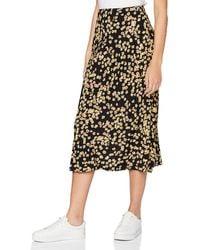 Tommy Hilfiger Tjw Printed Midi Skirt Jupe - Noir