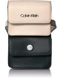 Calvin Klein Tonya Calf Leather Belt Bag - Black