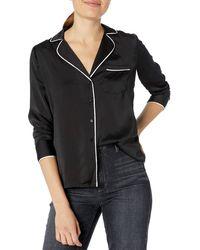 Lucky Brand Maggie Silk Pajama Top - Black