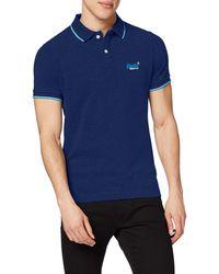Superdry Poolside Pique S/s Polo - Bleu