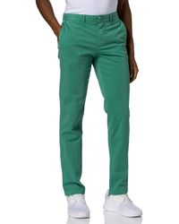 Tommy Hilfiger Bleecker Th Flex Satin Chino Gmd Trousers - Green