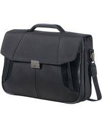 "Samsonite Briefcase 2 Gussets 15.6"" - Black"