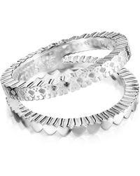 Tous Anello Straight doppio in argento - Metallizzato