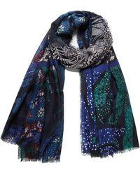 Desigual - Sciarpa Donna foul bali patch 20wawa03 unica blu - Lyst