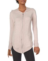 Splendid Studio Activewear Workout Athletic Zip Jacket With Hood - Pink
