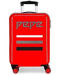 Pepe Jeans World Suitcase - Red
