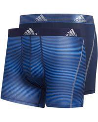 adidas Sport Performance Climalite Boxer Brief Underwear (2 Or 4 Pack) - Blue