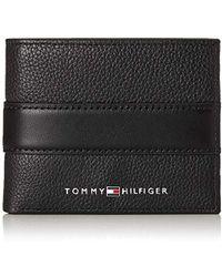 Tommy Hilfiger Downtown Mini Wallet, Black, 2 X 8.7 X 11 Cm