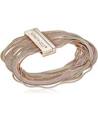 Kenneth Cole - S Rose Gold, Blush And Neutral Long Chain Bracelet, One Size - Lyst